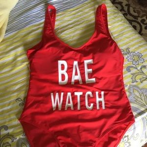 "Other - Baywatch ""bae watch"" one piece swimsuit"